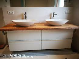 waschtischplatte rüster ulme massivholz baumkante