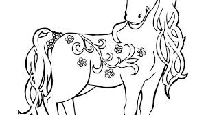 Spirit Horse Coloring Pages Page Horses Free Awesome Book
