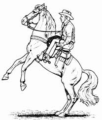 Cowboy Horse Coloring Page For Boys