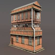 Factory Low Poly Building 3d Model CGTrader