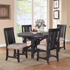 modus round yosemite 5 piece round dining table set with wood