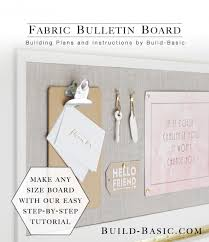 make this simple diy fabric bulletin board by covering