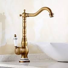solepearl bad wasserhahn antikes messing mischbatterie hoher auslauf wasserhahn einhebel badarmatur waschbeckenarmatur waschbecken badezimmer hoch