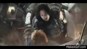 Steve Rogers Captain America VS Bucky Barnes Winter Soldier On Make A GIF