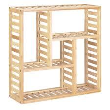 navaris badregal bambus inkl montage material 50x50x15cm regal für bad küche büro flur wohnzimmer wandregal bambusregal badezimmer kaufen