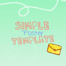 Simple Poster Template By Muhan Ui