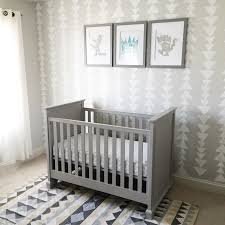 Max's Grey Nursery With Sponge Triangle Stamped Wall, Where The ... Gently Used Pottery Barn Kendall Fixed Gate Cribs Available In Blankets Swaddlings Used White Crib With Toddler Beds 10024 Best 25 Barn Discount Ideas On Pinterest Register Mat In Dresser Chaing Table Combination Extra Wide Topper Fniture Jcpenney Baby For Cozy Bed Design Nursery Pmylibraryorg Desks Arhaus Bentley Collection Distressed Wood Office