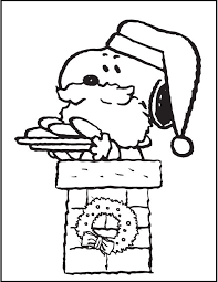 Snoopy Christmas Coloring Pages For Kids Printable