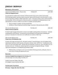 Emergency Room Nurse Resume Example Registered Student Lpn