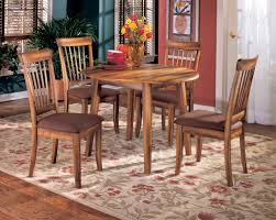 The Berringer Round Dining Room Drop Leaf Table Rustic Brown Sold