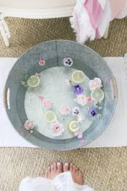 DIY Foot Soak Bath Make Your Spa Party Pedicures Extra Special With This Simple Add Flowers Lemon And A Bit Of Milk For Luxe Experience
