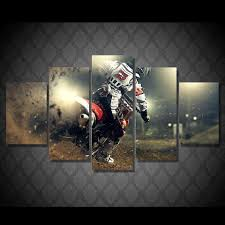 Eat Dirt Motocross Bike MX 5 Piece Canvas Wall Art Hanging