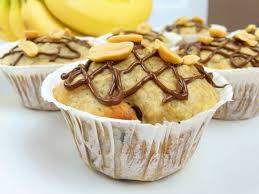 saftige erdnussbutter bananen muffins cook bakery