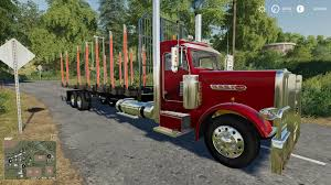 100 Log Trucks Peterbilt Log Truck V10 FS19 Farming Simulator 19 Mod FS19 Mod