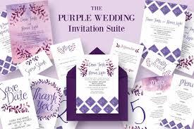 The Purple Wedding Invitation Suite