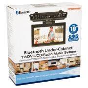 sylvania skcr2706bt 10 2 under counter bluetooth kitchen tv with