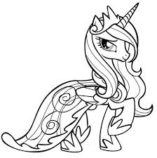 Princess Pony Coloring Sheets My Pages Online Little