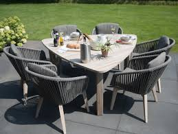 Modern Garden Dining Set. Linear Rope All Weather Chairs ... Alfresco Sintra 1100 Round Teak Ding Table Orient Express Costa Chair Taupe White Rope Grey Wood Height Lad Classic Bedroo Side Fniture Chairs Ellie 5pc Outdoor Setting Amazoncom Solid Retro Cowhide Garden Page 2 Of 12 Glasswells Peacock By Caline Wgu Design Danish Mid Century Frem Rojle And Set 4 Large Pine With Twist Legs Midcentury Swedish Modern Svegards Mkaryd Weave Luxury Organic Hand Woven