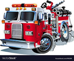 Cartoon Fire Truck Royalty Free Vector Image - VectorStock