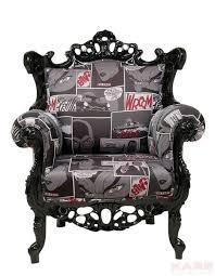 wohnzimmer barockfåtölj comic möbelidéer häftiga möbler