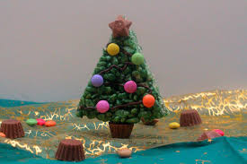 Rice Krispie Christmas Trees Recipe by Marshmallow Krispie Christmas Trees