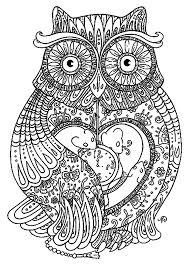 Free Coloring Page Adult Big Owl Pretty Full Of Details
