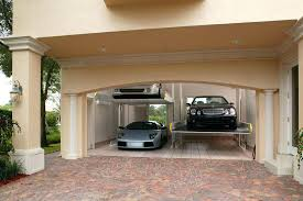 Modern Garage With Brick Floors French Doors Lighting Lava Stone 1 List Of