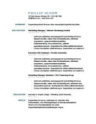 Resume Template Purdue Foodcityme