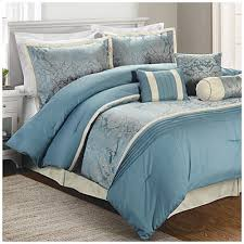 Living Colors™ Queen Jacquard Stafford Blue 7 Piece forter Set at