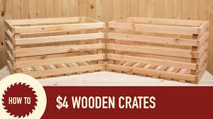 how to make a wood crate from a 2x6 youtube