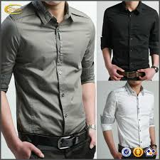 High Quality New Fashion Luxury Latest Shirt Designs For Men Casual Slim Fit Stylish Formal Long