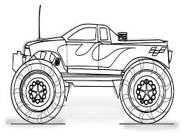Monster Truck Coloring Pages - Coloring Pages