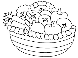 Coloring Pages Fruits Vegetables