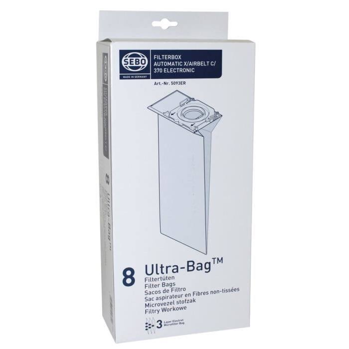 Sebo 5093AM X-Series Vacuum Filter Bag - 10pk