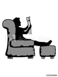 zeitung lesen nachrichten wohnzimmer möbel tv schauen gucken