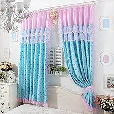 Amazon Uk Living Room Curtains by Fadfay Home Textile Delicate Pink Lace Curtains Cute Pink Polka