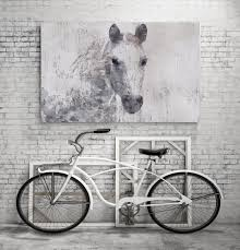 Home Decor Large Size Unique Dapple Grey Horse Related Items Etsy Gorgeous Rustic Canvas