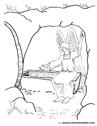 Christ Resurrection Coloring Page For