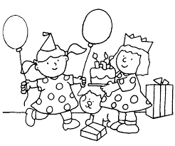 Animated Coloring Pages Birthday Image 0012