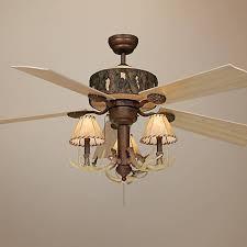 52 vaxcel log cabin ceiling fan with antler 3 light kit j2188