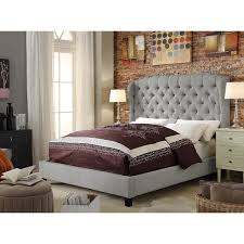 Moser Bay Furniture Feliciti Grey Tufted with Wings Queen