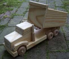 dump truck wooden toy featured in mothering by myfathershandsllc