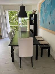 esstisch bjursta ikea 4 stühle bank kaufen auf ricardo