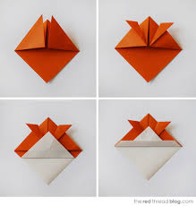 Theredthread Origamifish Steps