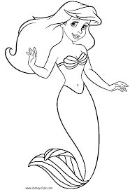 Draw Little Mermaid Coloring Pages Fresh On Plans Free Kids
