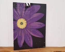 Wooden Wall Art Flower Decor Daisy Rustic Hand