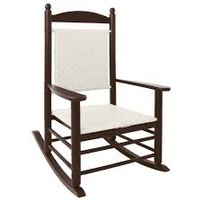 POLYWOOD K147FMAWL White Loom Jefferson Woven Rocking Chair With Mahogany  Frame Polywood Pws11bl Jefferson 3pc Rocker Set Black Mahogany Patio Wrought Iron Rocking Chair Touch To Zoom Outdoor Cu Woven Traditional That Features A Comfortable Curved Seat K147fmatw Tigerwood With Frame Recycled Plastic Pws11wh White Outdoor Resin Rocking Chairs Youll Love In 2019 Wayfair Wooden All Weather Porch Rockers Vermont Woods Studios