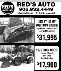 Posi Track Machine / 1979 John Deere, Red's Auto Sale, Ironwood, MI Reds Auto Rehab Solution For Common Automotive Problems 20 New Models Guide 30 Cars Trucks And Suvs Coming Soon Vehicles Sale Ironwood Mi Mileti Industries Redspace Reds First Look Chris Bangle On Red Cedar Sales Williamston Used Enterprises Burlington On 4341 Harvester Rd Canpages H O Danville Va Service 2010 Finiti Qx56 Awd And Truck Auto Truck 1451 Vista View Dr Lgmont Co 80504 Buy Sell Hot Wheels 50th Anniversary Car Collection