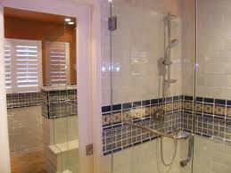 mexican tile liner in a bathroom shower area mexican home decor