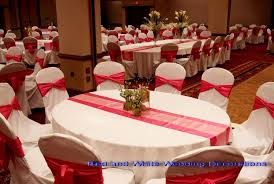 Marvellous Wedding Decoration Red And White Decorations Everythingnycco